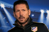 Football - Atletico Madrid Press Conference - Stamford Bridge, London, England - 29/4/14 Atletico Madrid coach Diego Simeone during the press conference Mandatory Credit: Action Images / John Sibley Livepic EDITORIAL USE ONLY.